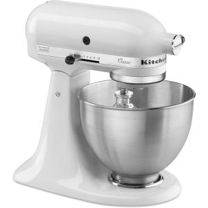 KitchenAid Classic 4.5 Qt. 10-Speed Tilt-Head White Stand ...