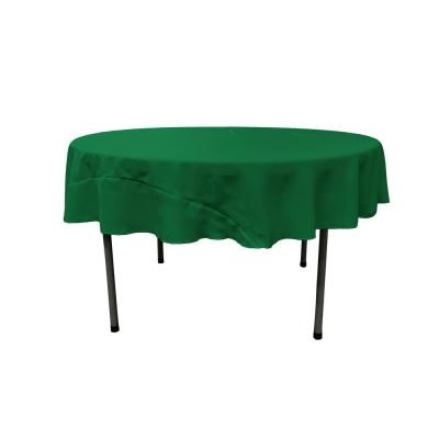 Emerald Green 72 in. Round Polyester Poplin Tablecloth