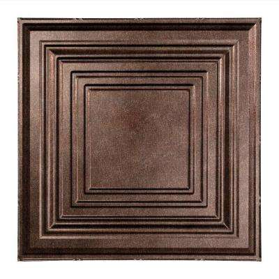 Traditional 3 - 2 ft. x 2 ft. Lay-in Ceiling Tile in Smoked Pewter