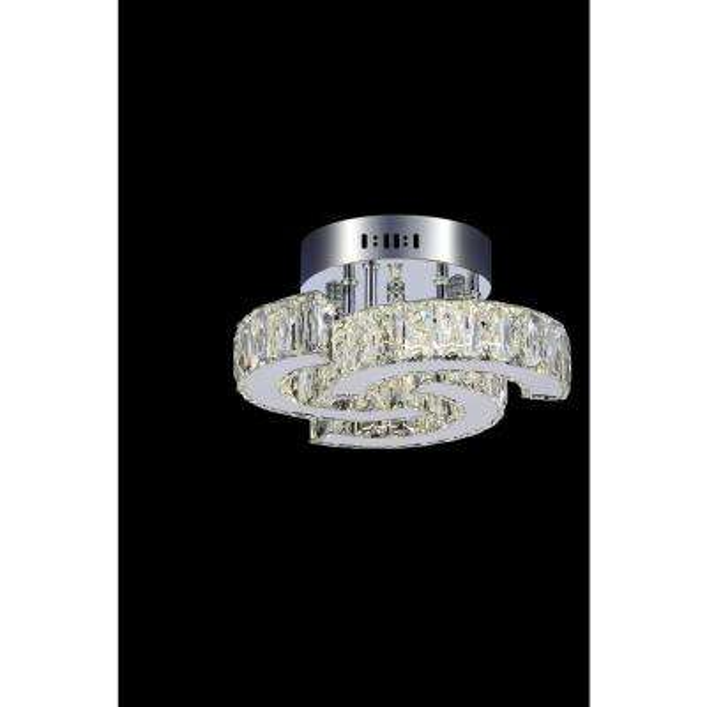 Vienna 1-Watt Chrome Integrated LED Ceiling Semi-Flushmount