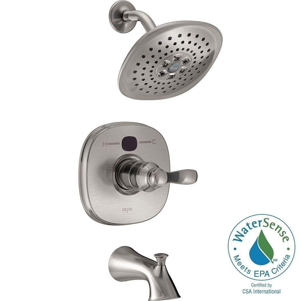 shower faucet kit with valve. Delta Temp2O Transitional Single Handle Tub and Shower Faucet Trim Kit in  Stainless Valve Not Included T14403 SST2O The Home Depot