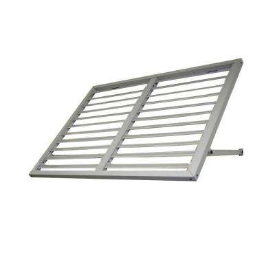 8.6 ft. Ohio Metal Shutter Awning (104 in. W x 24 in. H x 36 in. D) in Dove Gray