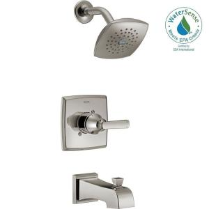 Ashlyn 1 Handle Pressure Balance Tub And Shower Faucet Trim Kit In  Stainless (Valve