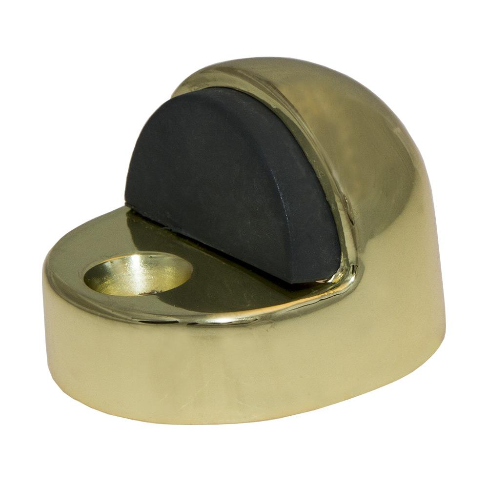 Bright Brass Half Dome High Rise Door Stop
