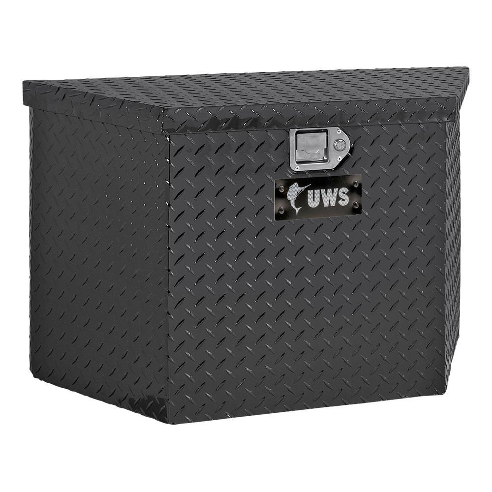34.5 Gloss Black Aluminum  Trailer Tongue Truck Tool Box