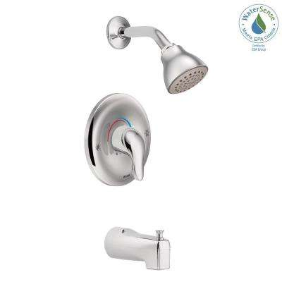 Chateau Single-Handle 1-Spray Posi-Temp Tub and Shower Faucet with Valve in Chrome (Valve Included)