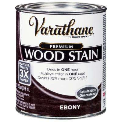1 qt. Ebony Premium Fast Dry Interior Wood Stain (2-Pack)