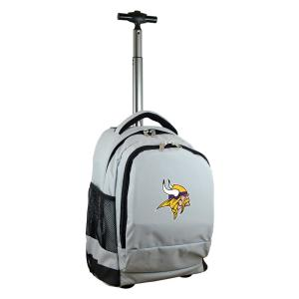 ec934932 NFL Minnesota Vikings 19 in. Gray Wheeled Premium Backpack
