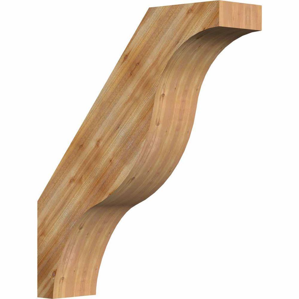 Ekena Millwork 6 in. x 28 in. x 24 in. Western Red Cedar Fuston Rough Sawn Brace