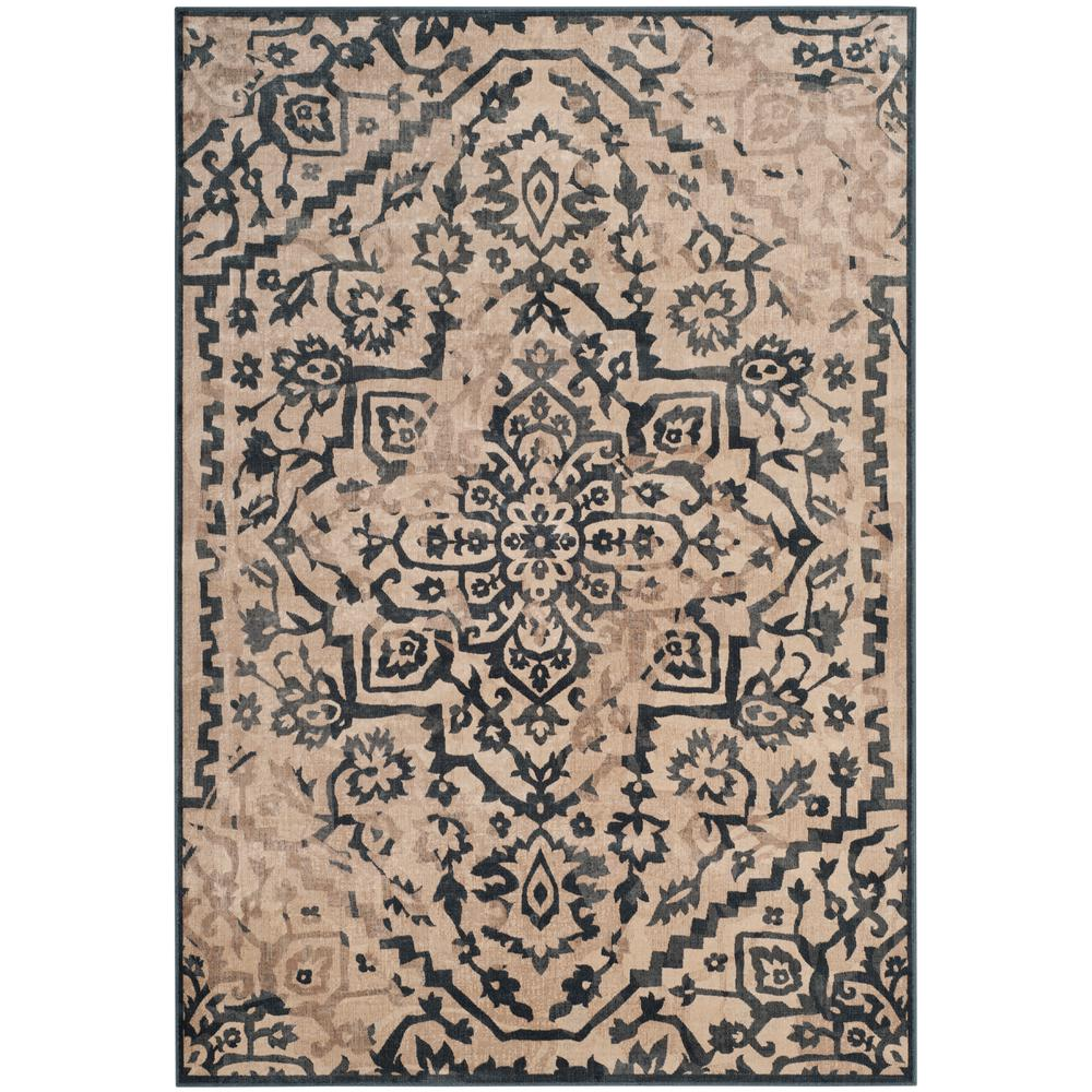 Safavieh Vintage Cream/Blue 4 ft. x 5 ft. 7 in. Area Rug