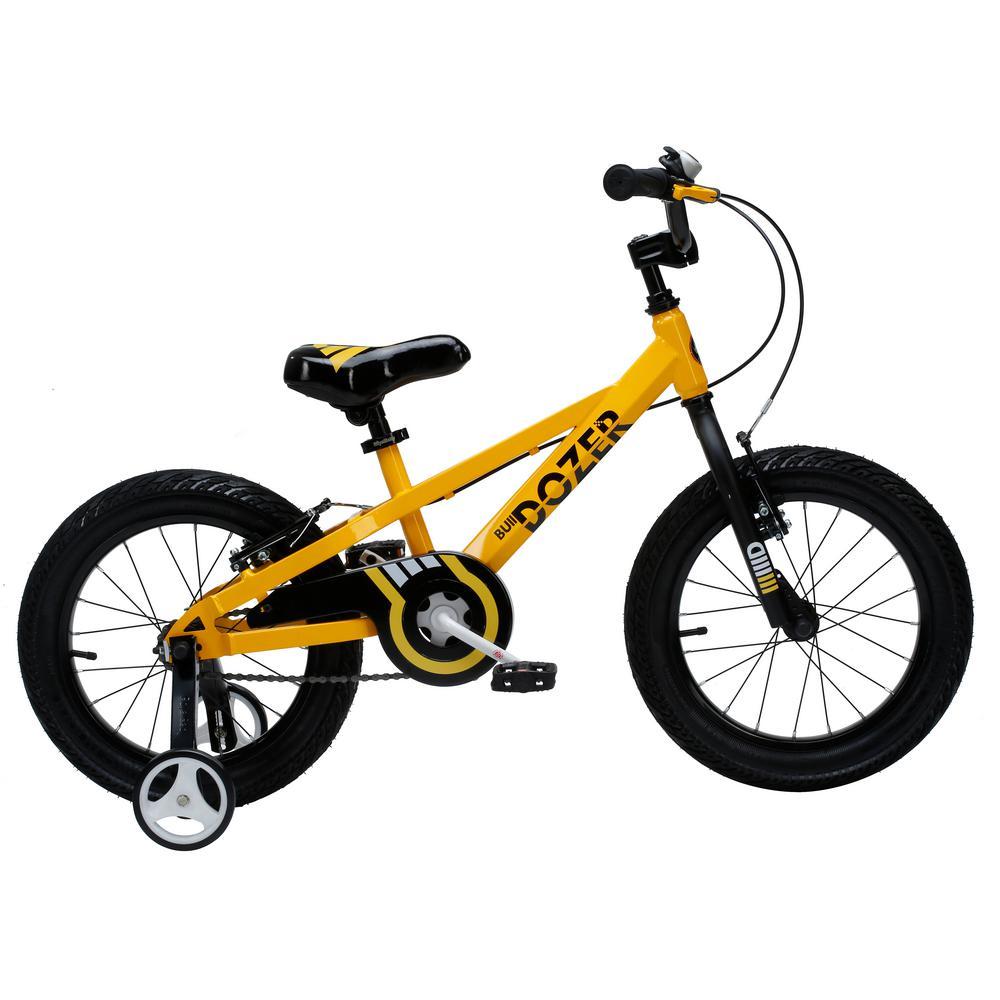 16 in. Bull Dozer Heavy-Duty Kids Bike with Super-Wide 3 in. Tires in Yellow