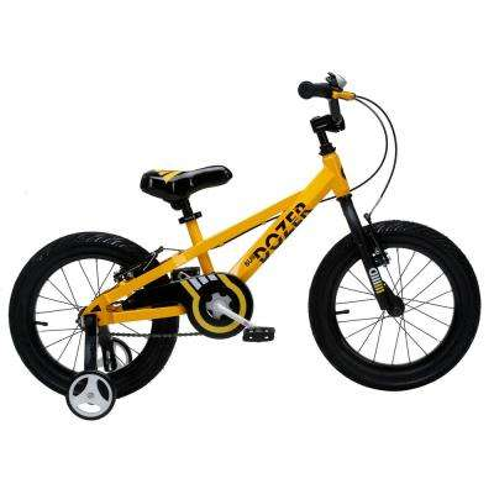18 in. Bull Dozer Heavy-Duty Kids Bike in yellow with Super-Wide 3 in. Tires