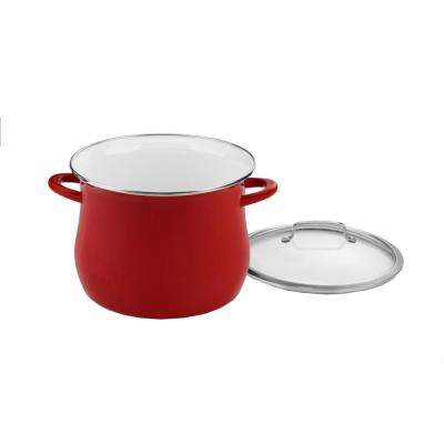 12 Qt. Red Stockpot with Cover