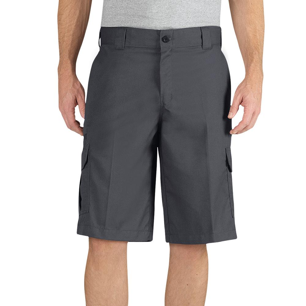 3afa903121 Dickies Men Flex 13 in. Relaxed Fit Charcoal Cargo Short-WR557CH 44 ...
