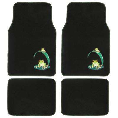 Green Frog MT-512 Design 4 Pieces Carpet Car Floor Mats