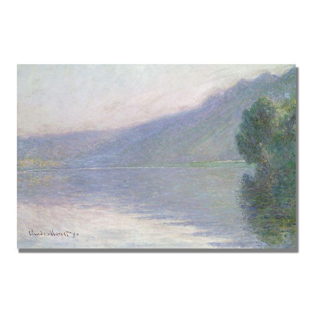 Trademark Fine Art 16 in. x 24 in. The Seine at Port Villez 1894 Canvas Art