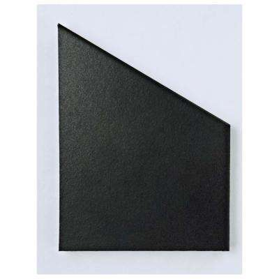 Textile Hex Black Porcelain Floor and Wall Tile - 3 in. x 4 in. Tile Sample