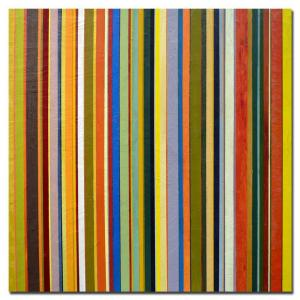 18 in. x 18 in. Comfortable Stripes Canvas Art