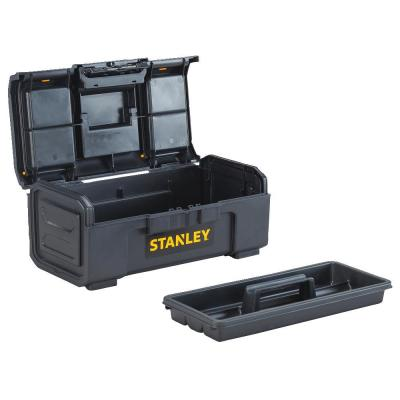 16 in. 1-Touch Latch Tool Box with Lid Organizers