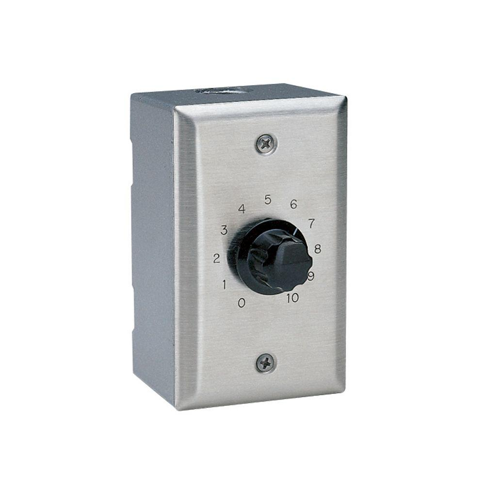 Valcom Wall Mount Volume Control - Stainless Steel-VC-V-9 - The Home  Depot