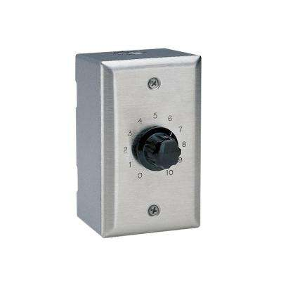 Wall Mount Volume Control - Stainless Steel