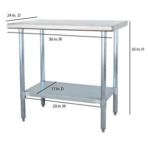 Superbe +5. Sportsman Stainless Steel Kitchen Utility Table