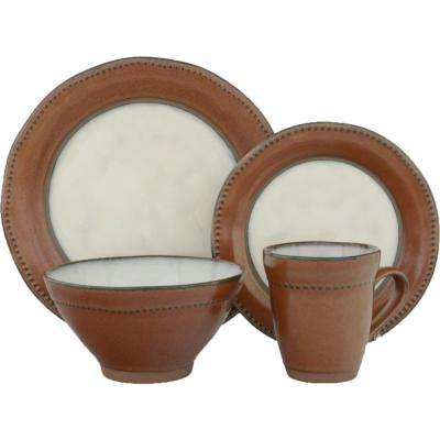 16-Piece Centrics Sienna Dinnerware Set