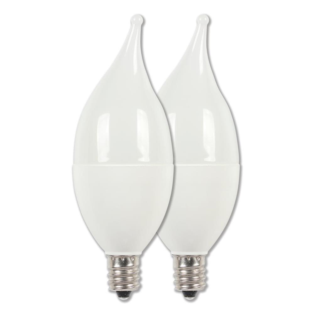 40-Watt Equivalent C11 LED Light Bulb Soft White Light (2-Pack)