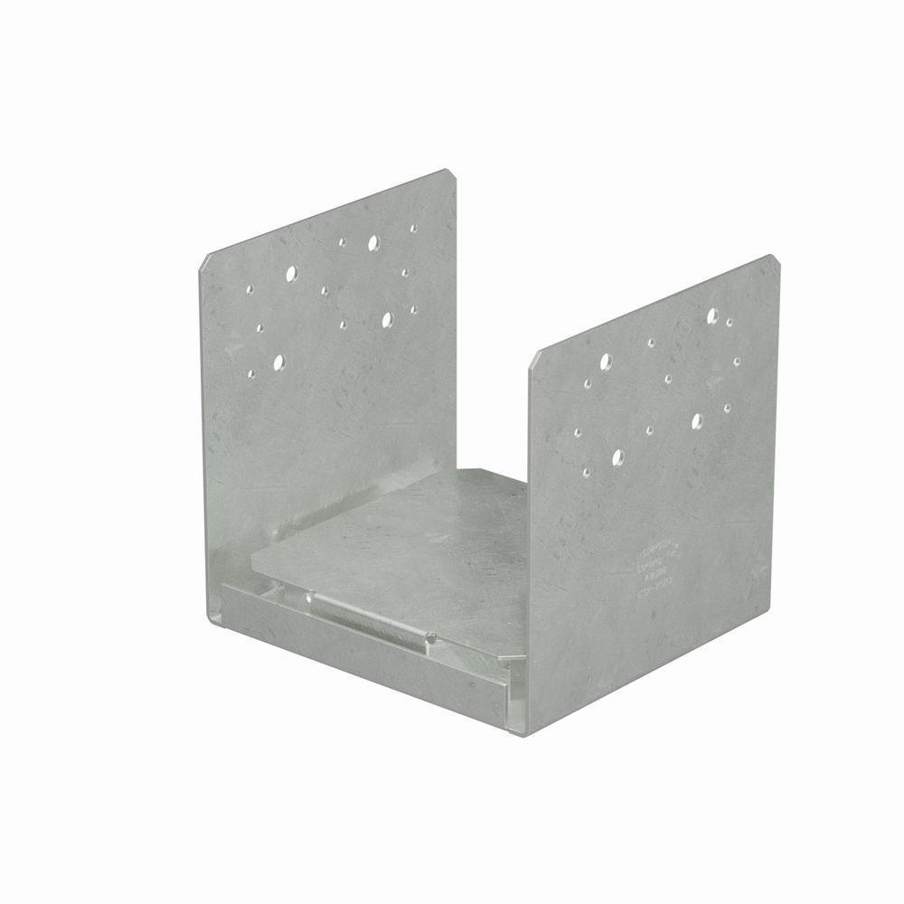 8 in. x 8 in. 14-Gauge Hot-Dip Galvanized Adjustable Post Base