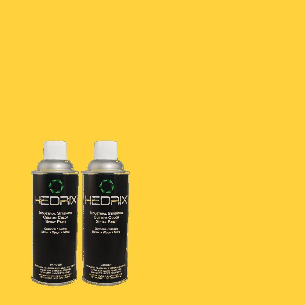 Hedrix 11 oz. Match of 1B5-6 Sundial Flat Custom Spray Paint (2-Pack)