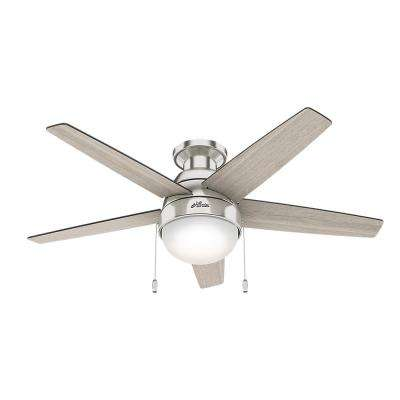 Parmer 46 in. LED Indoor Brushed Nickel Ceiling Fan