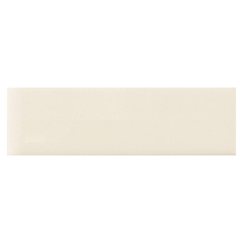 Daltile Modern Dimensions Biscuit 2-1/8 x 8-1/2 in. Ceramic Bullnose Wall Tile-DISCONTINUED