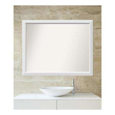 Choose Your Custom Size 33 in. x 42 in. Blanco White Wood Framed Mirror