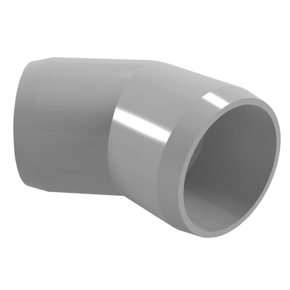 Formufit 1-1/4 in. Furniture Grade PVC 45-Degree Elbow in Gray