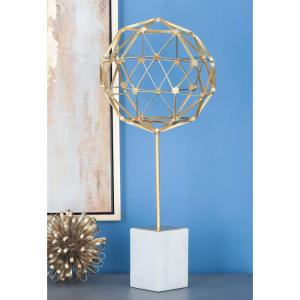 25 inch Nucleus Sphere Decorative Sculpture in Gold by