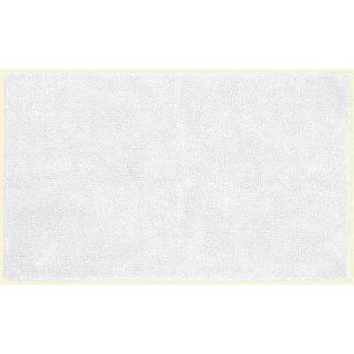 Queen Cotton White 30 in. x 50 in. Washable Bathroom Accent Rug