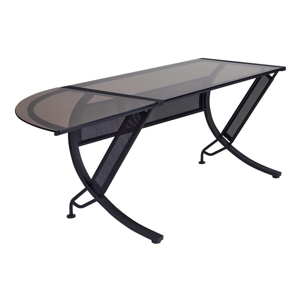 Ospdesigns Black And Bronze Desk Hzn25l The Home Depot