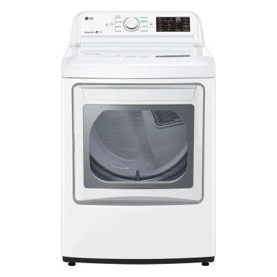 7.3 cu. ft. White Electric Vented Dryer with EasyLoad Door