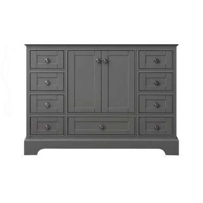 Audrey 47 in. W x 21 in. D Bath Vanity Cabinet Only in Sapphire Gray