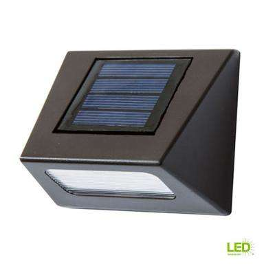 Solar Bronze Integrated LED Downcast Deck Light (4-Pack)