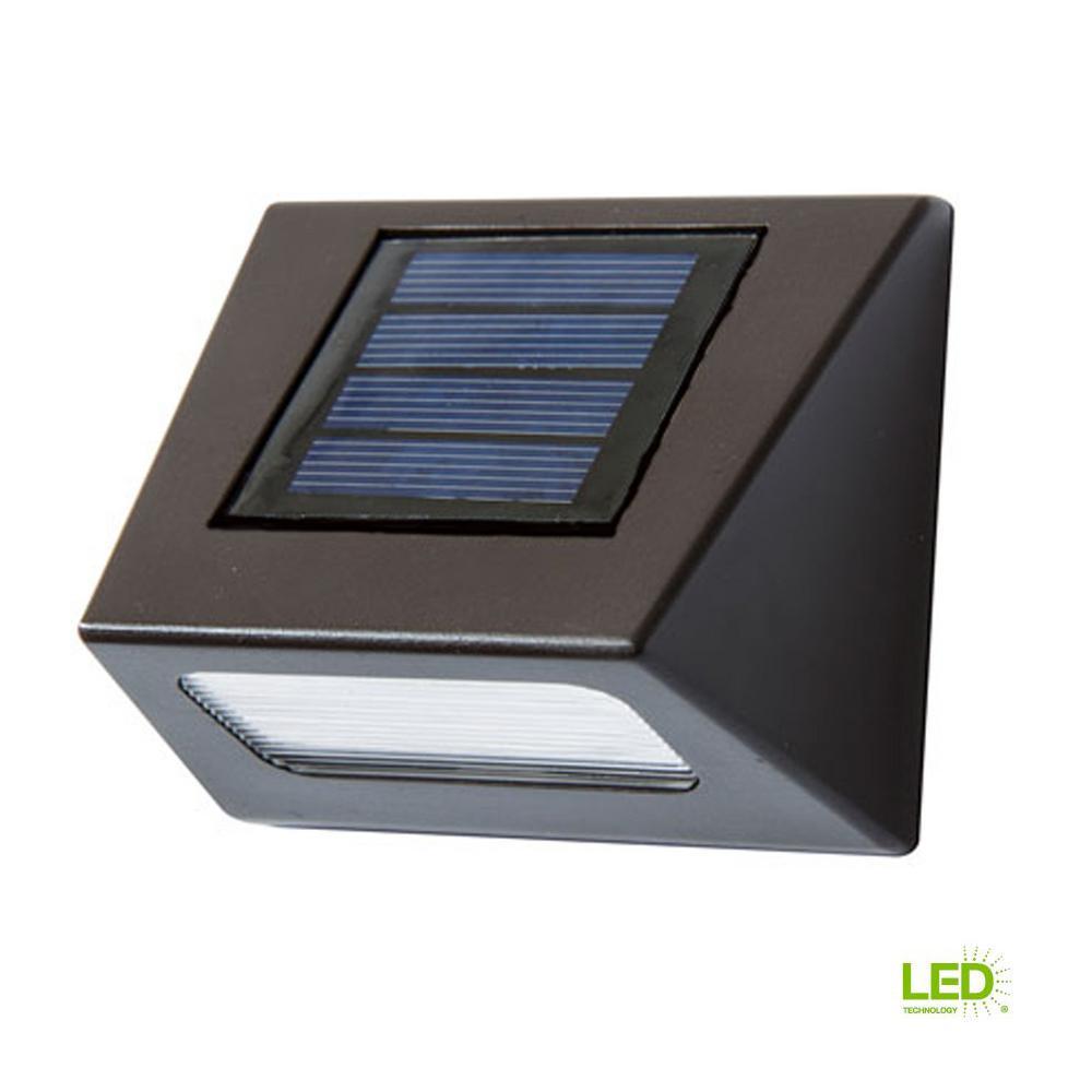 Solar Bronze Integrated Led Downcast Deck Light 4 Pack