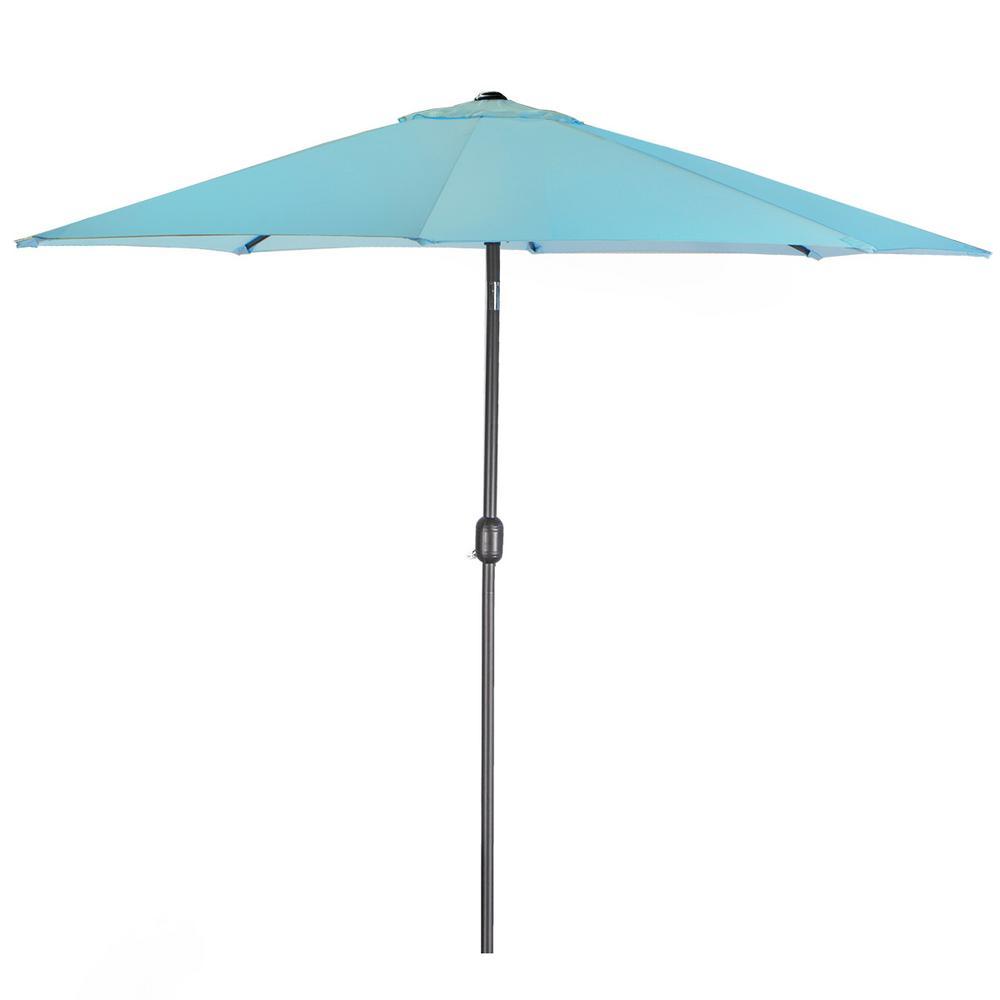 Barton 9 ft. Steel Outdoor Market Patio Umbrella in Blue