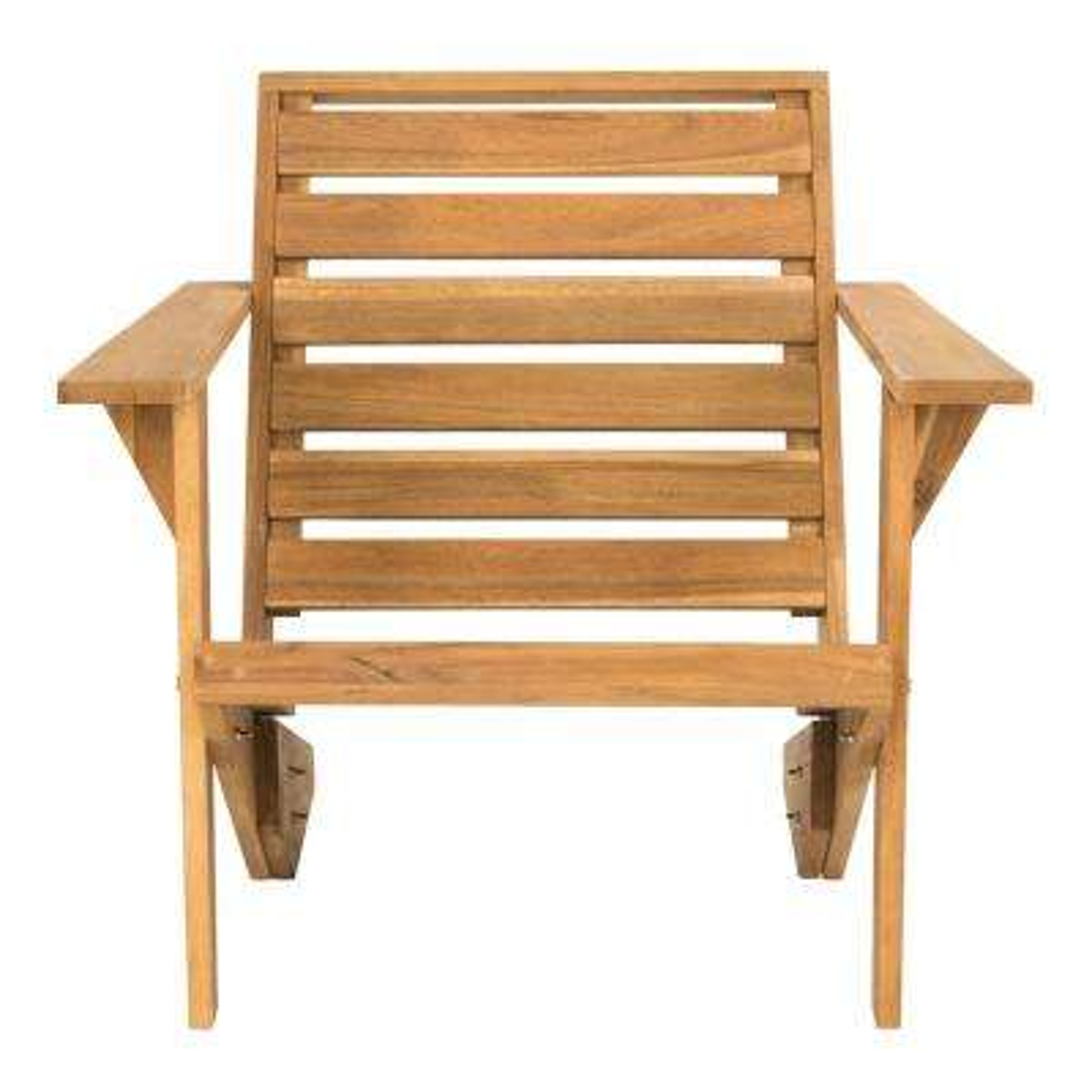 Lanty Natural Brown Wood Adirondack Chair