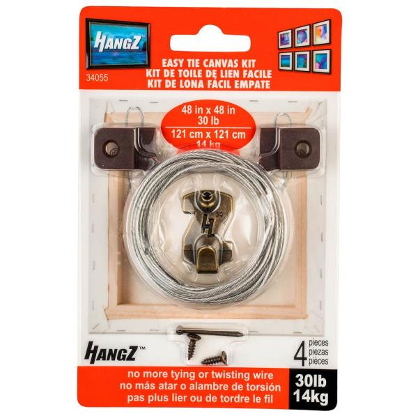 Canvas Easy Tie 1 Hole D-Ring Kit 30 lbs.