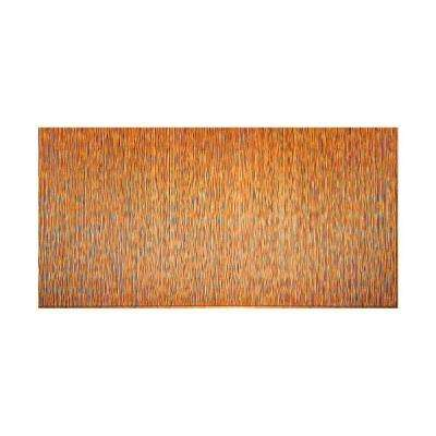 Ripple Vertical 96 in. x 48 in. Decorative Wall Panel in Muted Gold
