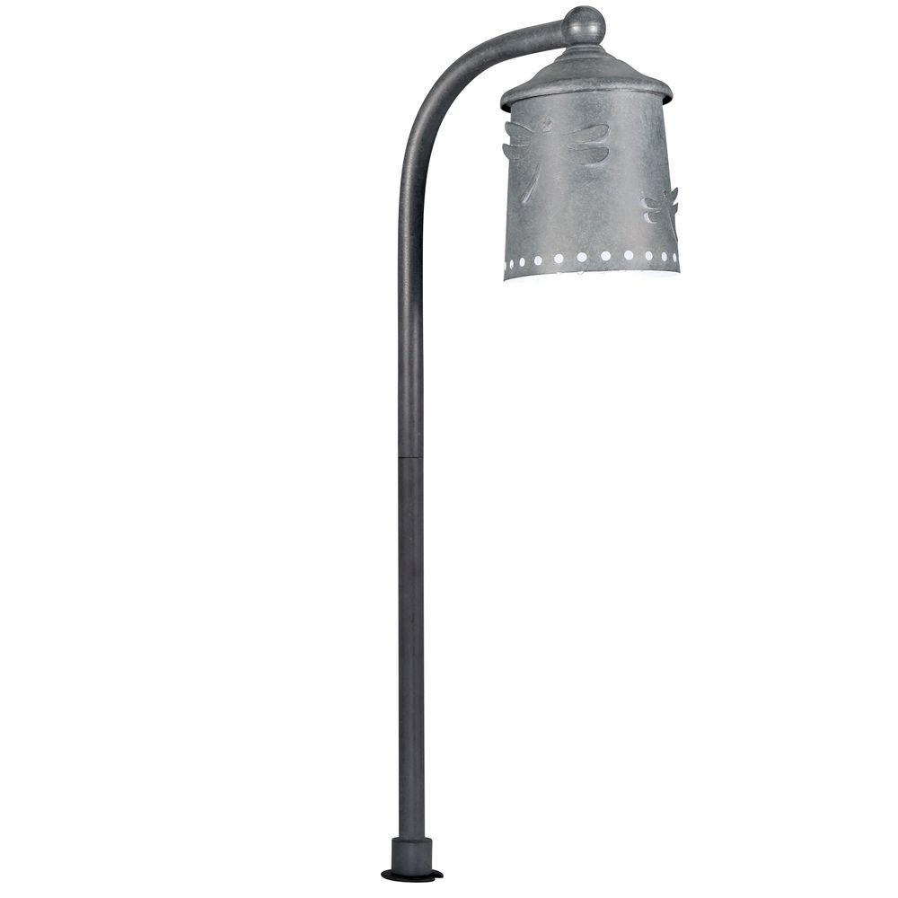 Hampton Bay Low Voltage Rustic Iron Outdoor Integrated Led Landscape Path Light With Shade Details