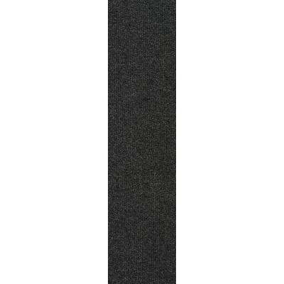 Premium Self-Stick Blk. Ice  High low Planks 9 in. x 36 in. In/Outdoor Carpet (16 Tiles/36 sq. ft./case)