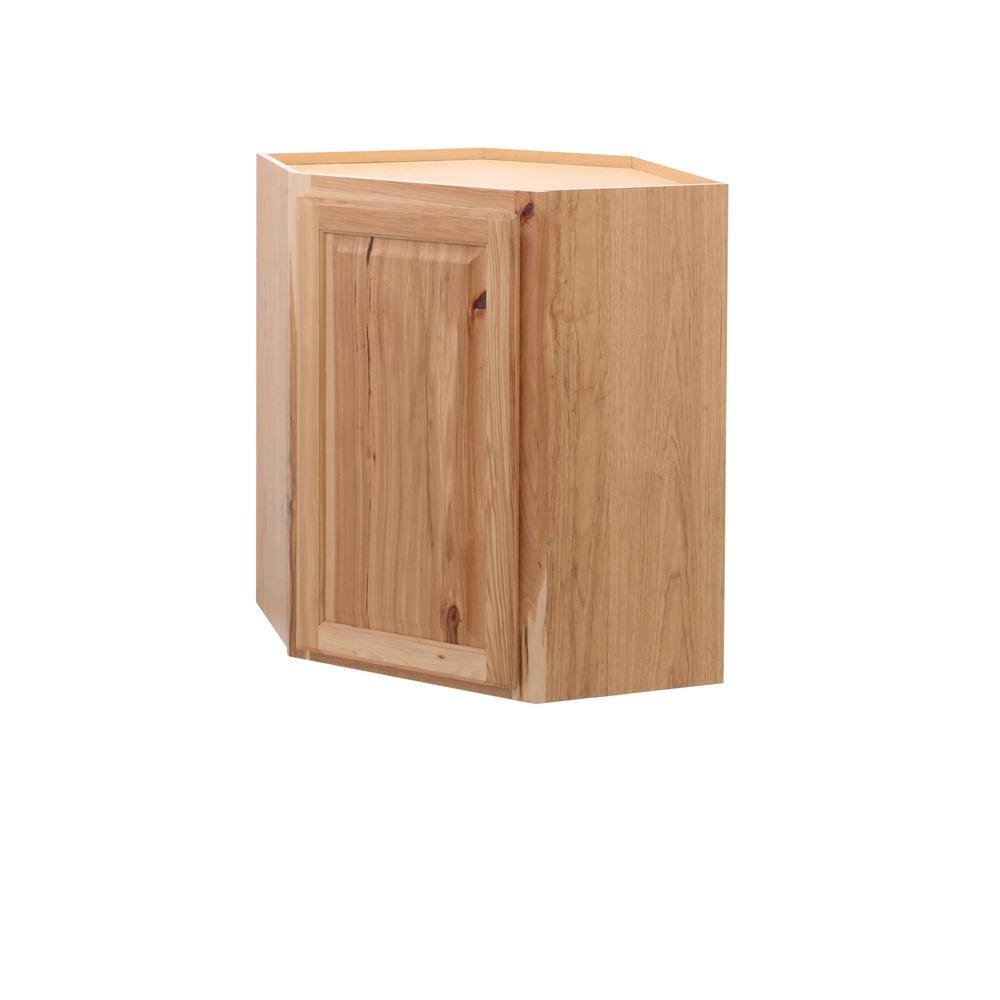 Beau Hampton Bay Hampton Assembled 24x30x12 In. Diagonal Corner Wall Kitchen  Cabinet In Natural Hickory
