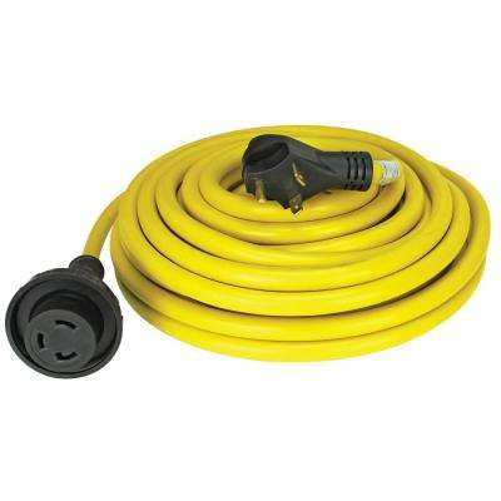 30 Amp 50 ft. RV Cord Grip Handle Plug and Twist Lock
