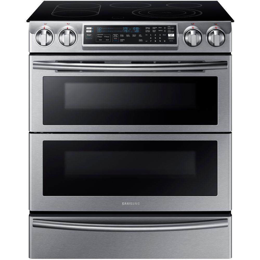 40 Inch Electric Range Part - 36: Slide-In Double Oven Electric Range With